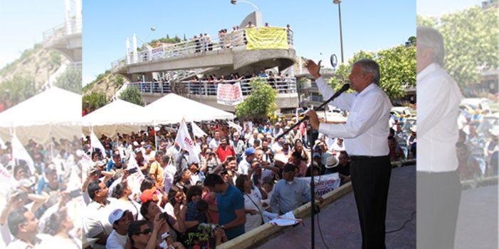 López Obrador de gira por Sonora