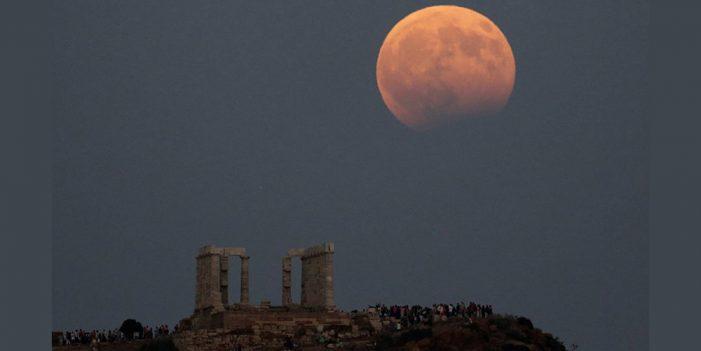 Súper luna de sangre con Eclipse será visible la madrugada del lunes