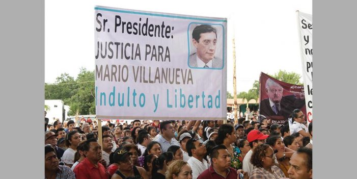 Promete López Obrador libertad para exgobernador Mario Villanueva