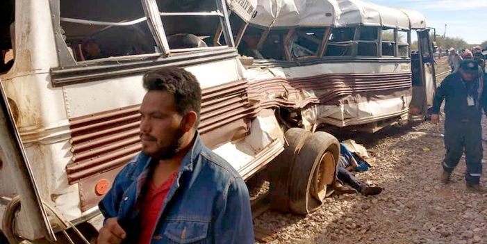 """Sube a 32 número de heridos por """"trenazo"""" en Vicam"""