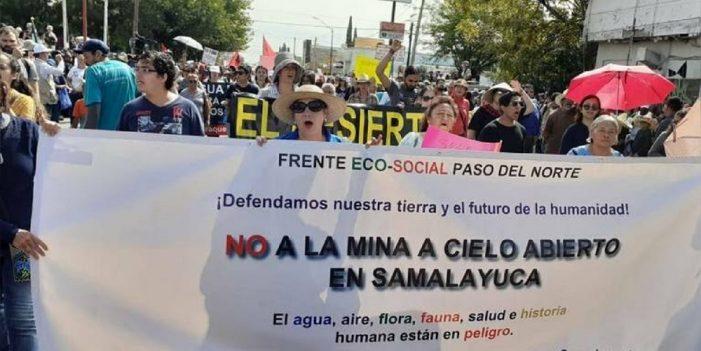 Agricultores piden a AMLO frenar mina en Salamayuca