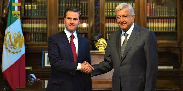 Gobierno federal no investiga a Peña Nieto: AMLO