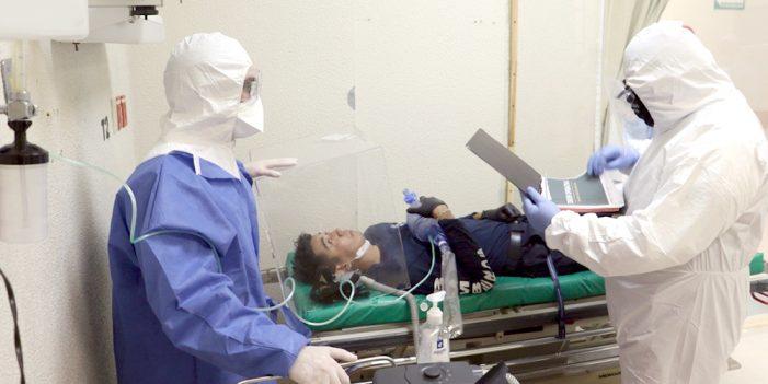 Realizan simulacro de atención y traslado de paciente con síntomas de Coronavirus
