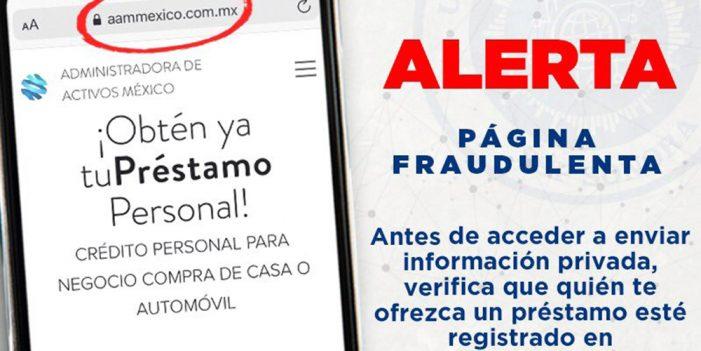 Advierte Unidad cibernética sobre páginas fraudulentas